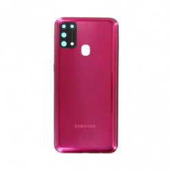 Samsung vitre arriere Galaxy M31 rouge